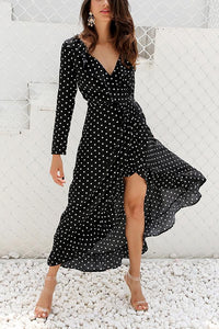 Sexy Fashion Long Sleeves Vacation Maxi Dress