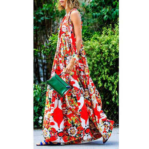 Bohemian Digital Printing Dress