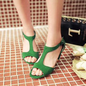 Fashion Pure Color High Heel Sandals