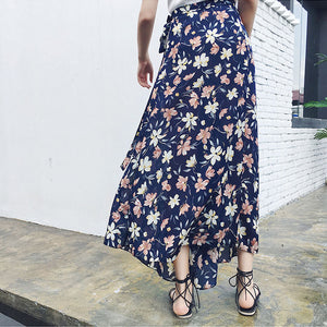 Bohemian Printing Split One-Piece Beach Skirt