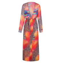 Bohemian Sexy Printing Maxi Beach Vacation Dress