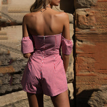 Summer Plaid Sexy Tube Wrapped Shorts Playsuit