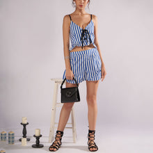 Striped Sling Sexy Top Fashion Shorts Playsuit
