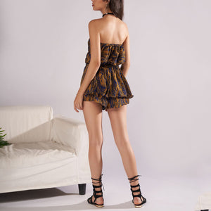 Sleeveless Tube High Waist Playsuit