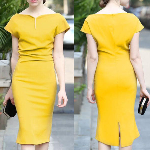 Fashion Sweet Heart  Plain Bodycon Dresses