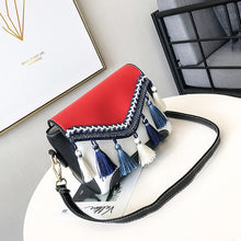 Tassel Hit Color Cross Body Bag