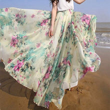 Bohemian Printing Irregular Beach Skirt