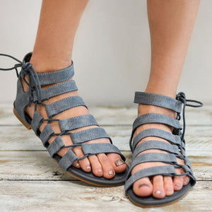 Casual Pure Color Roman Sandals