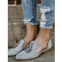 Fashion Suede Pure Color Tassel Pointed Hollow Wedge Sandals