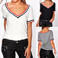 Casual V Collar Short Sleeve Shirt