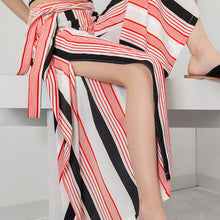 Stripe Loose Wide Leg Casual Trousers