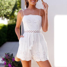 Fashion Embroidery Off Shoulder Jumpsuit