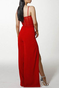 Sexy Split Wide Leg Two-Piece Jumpsuit