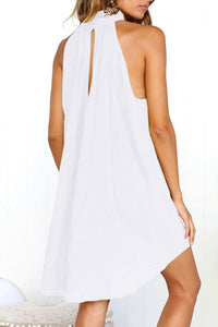 Sexy Plain Sleeveless Mini Dress
