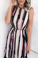 Sexy Stripe Sleeveless Vacation Maxi Dress