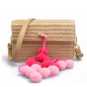 🔥2018 Must Have Colored Hair Ball Handbag