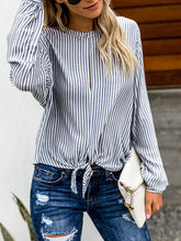 Striped Long-Sleeved Blouses
