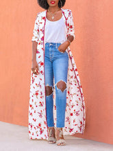 Long Sleeve Floral Tambourine Cloak