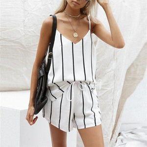 eab1474b8983 Casual Spaghetti Strap Sleeveless Rompers Suits