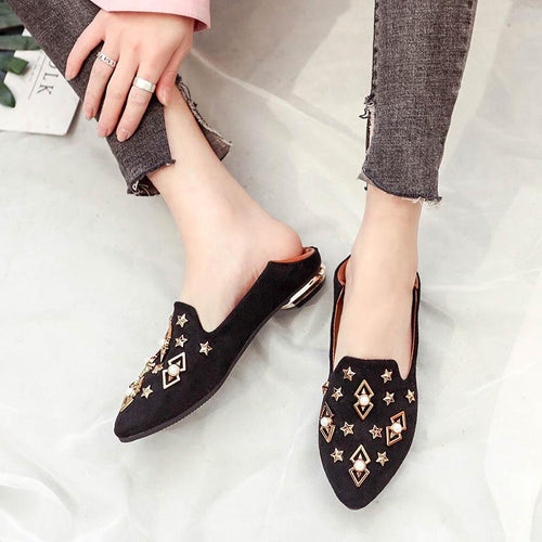 Fashion Pointed Shallow Mouth Non-Slip Single Shoes Wild Shoes