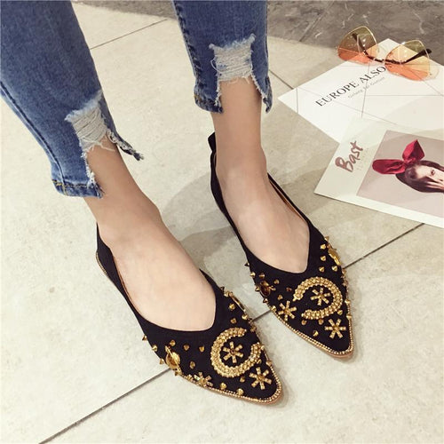 Fashion Versatile And Comfortable Pointed Flat Shoes