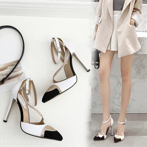 Rhinestone Color Matching High Heels Pumps