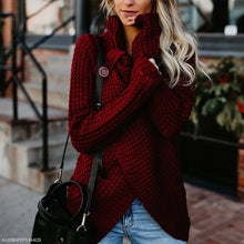 Fashion Round Neck Split Sweater