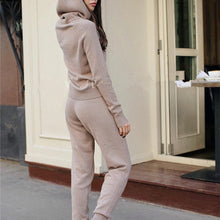 Loose Breathable Hooded Knit   Suit
