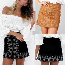Embroidery Sexy Short Skirt