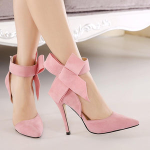 Bow Tie Strap Wedding Party High Heels