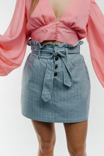 Load image into Gallery viewer, No Doubts Stripe Denim Skirt