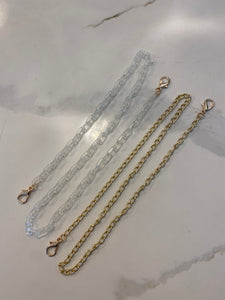 On And Off Mask Chain Clear