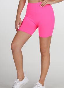 Lit Up Biker Shorts Fuchsia