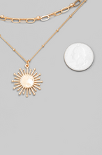 Load image into Gallery viewer, Sunburst Layered Necklace