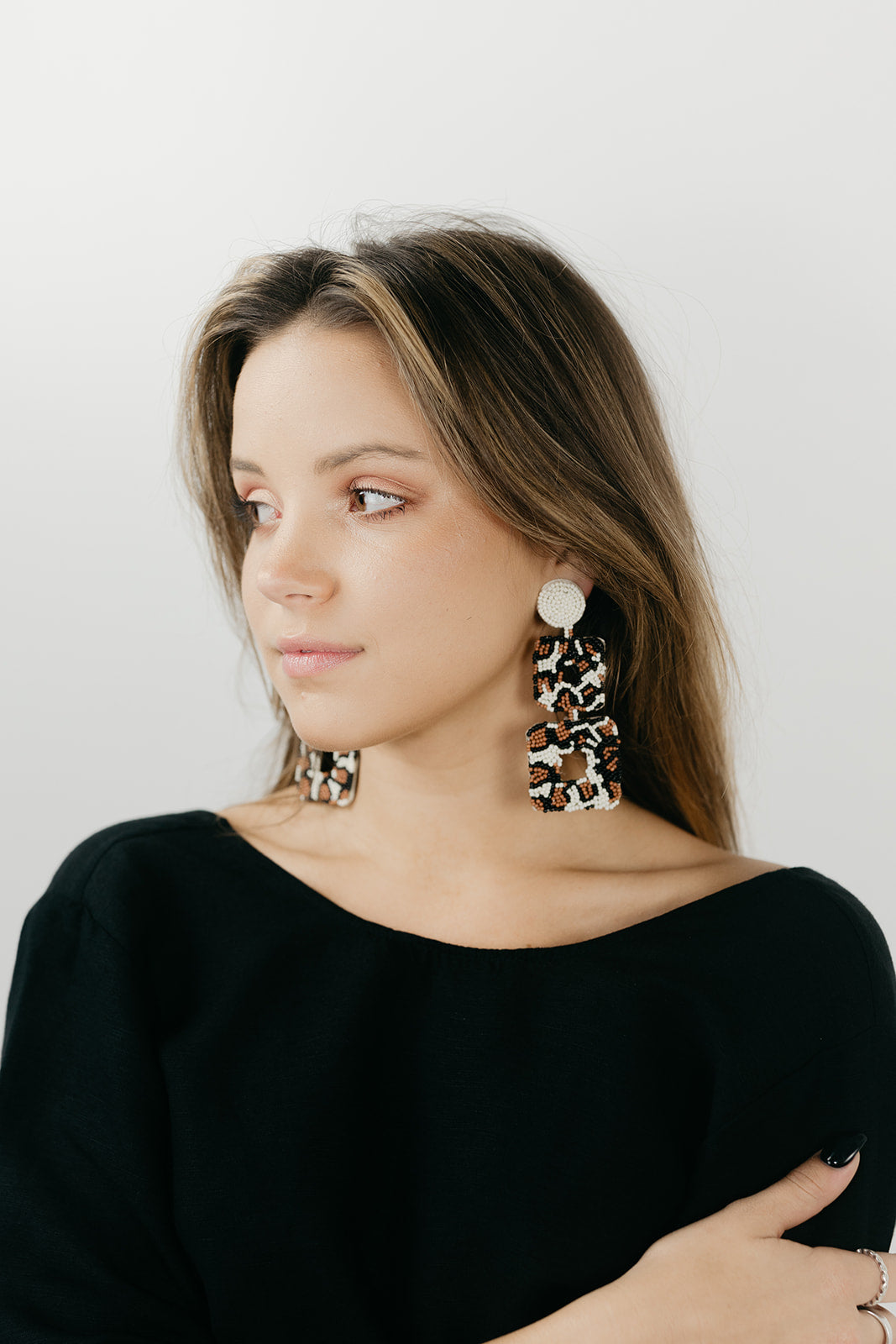 Beadwork It Tortoise Earrings