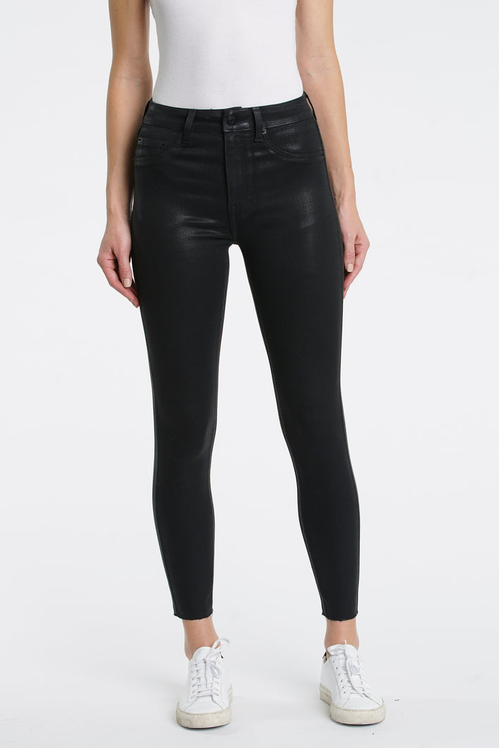 Aline High Rise Skinny Coated Black