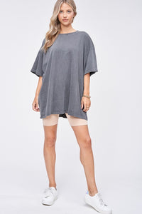 Above Average Oversized Tee Charcoal