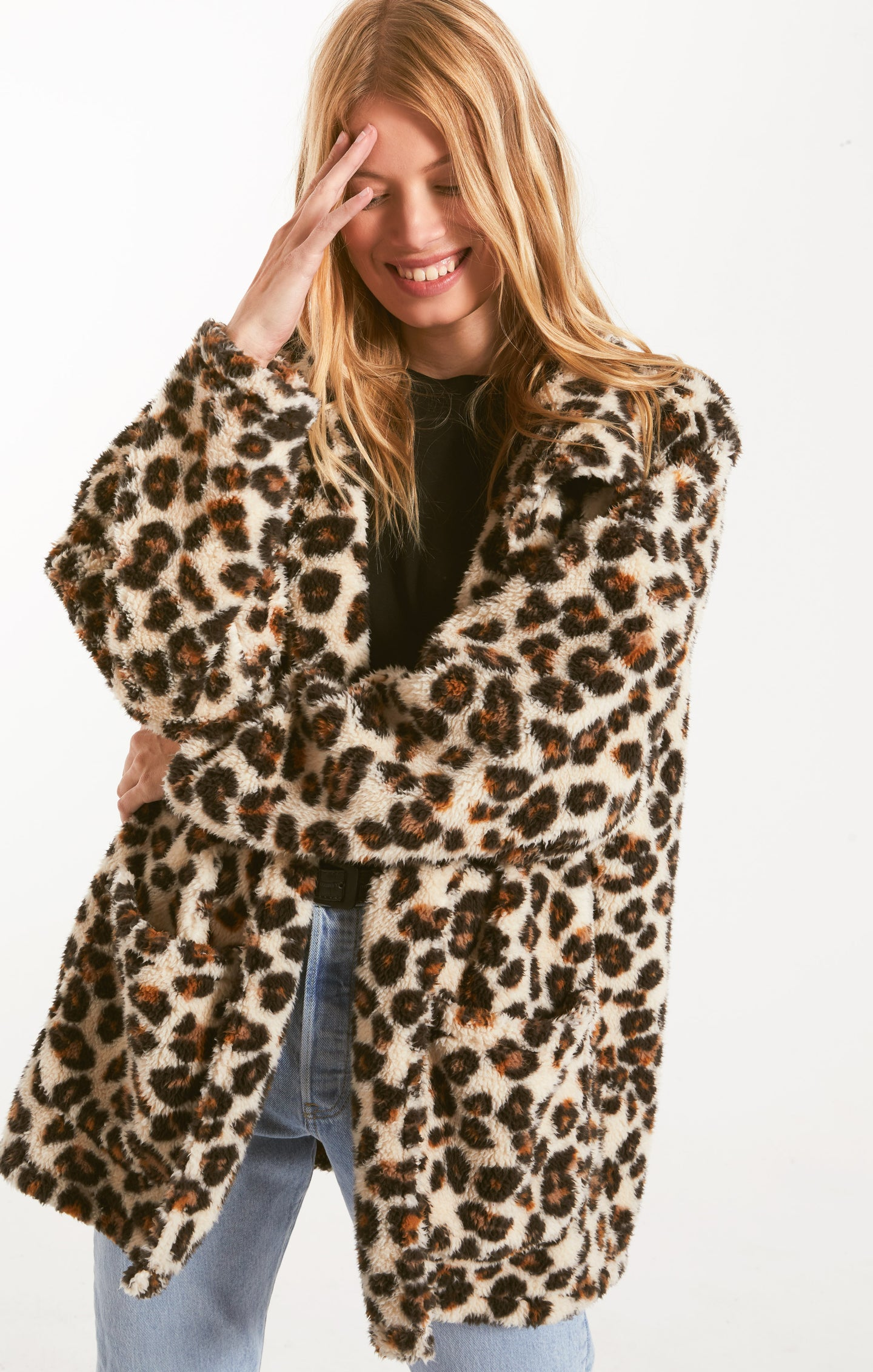 The Leopard Sherpa Teddy Bear Coat