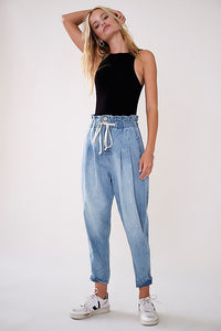 Margate Pleated Denim Trouser