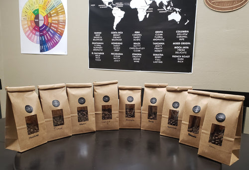 Sample Pack of Coffee Beans from 9 Countries - Nine Flags Coffee Roasters