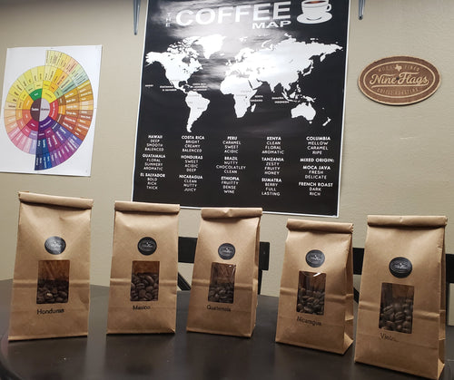 Sample Pack of the 5 Most Popular - Nine Flags Coffee Roasters