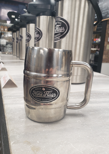Nine Flags Stainless Mug - nineflagscoffeeroasters