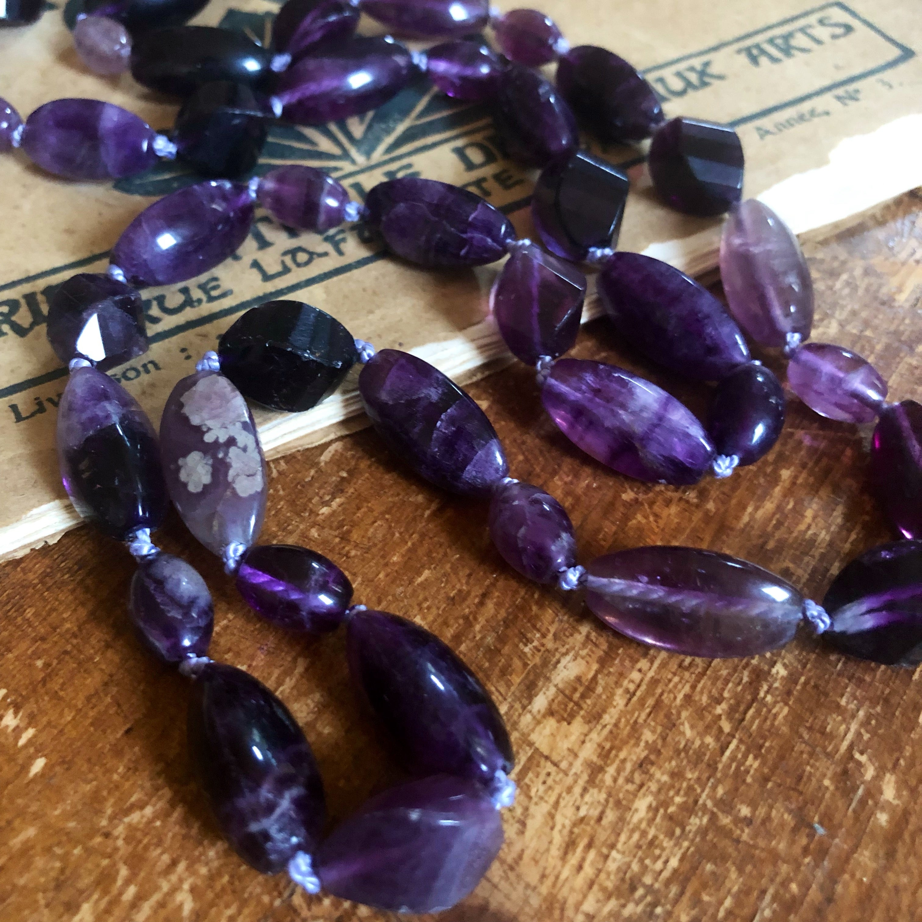 Fluorite long necklace