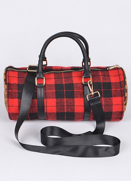 Red Plaid Clutch - Wild-Bunny-