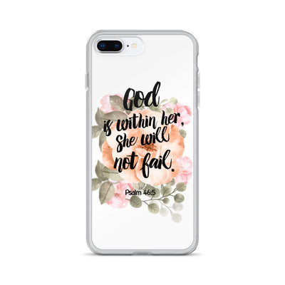 God is within her iPhone Hülle - gesegnet