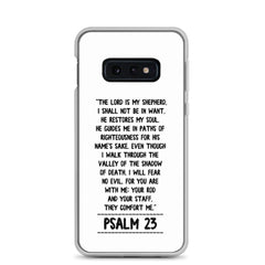 The Lord is my Shepherd Psalm 23 Samsung Handyhülle