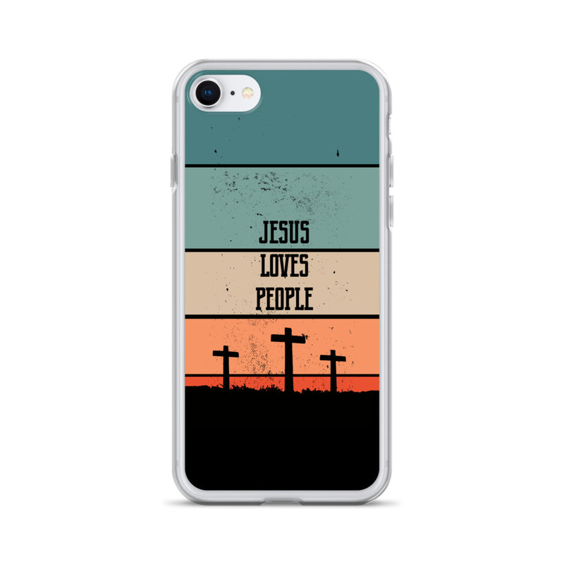 Jesus loves People iPhone Hülle