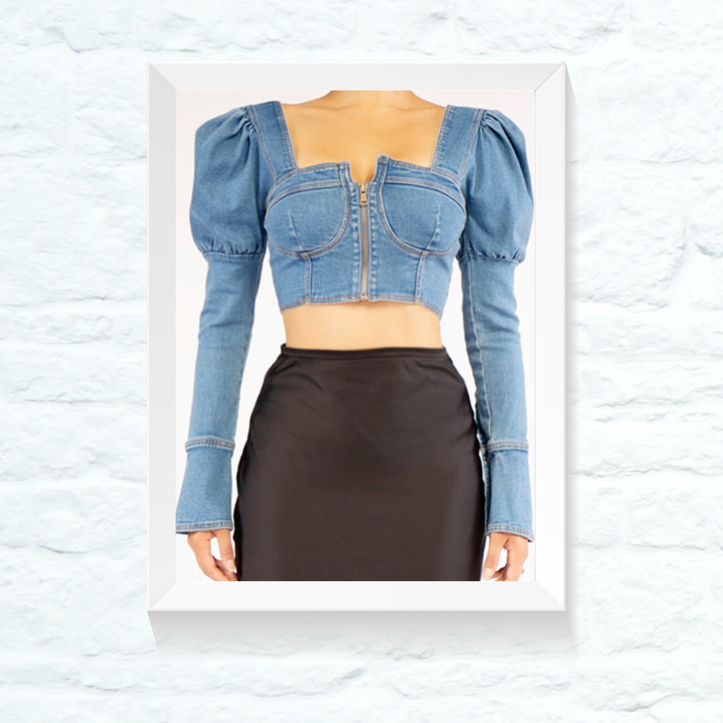 image for DENIM CROP TOP