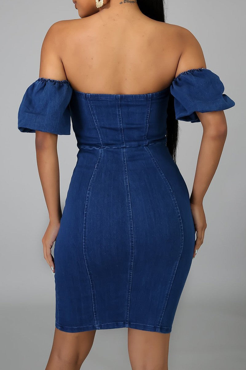 OFF SHOULDER DENIM