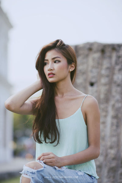 Classic Waterfall Cami - Mint